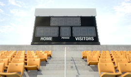 Sports Stadium Scoreboard Stock Image