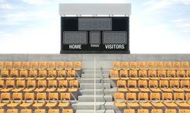 Sports Stadium Scoreboard Stock Photos