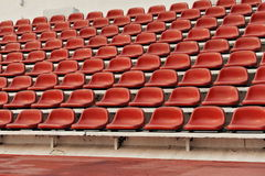 Sports Stadium Seating. Red Seats in a Sports Stadium Royalty Free Stock Photos