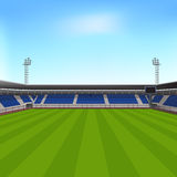 Sports stadium with seating for spectators Stock Photography