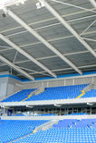 Sports stadium seats Royalty Free Stock Photography