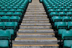 Sports stadium steps Royalty Free Stock Photography