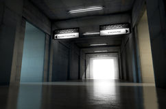 Sports Stadium Tunnel Stock Photo