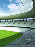 Sports stadium venue with generic field Royalty Free Stock Photography