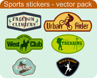 Sports Stickers Royalty Free Stock Image