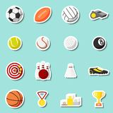Sports stickers set Stock Photo