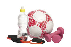 Sports Still Life, Sports items Royalty Free Stock Images