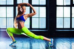 Sports stretching Royalty Free Stock Photography