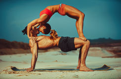 Sports stretching Royalty Free Stock Image