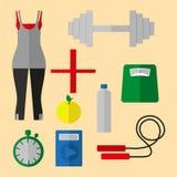 Sports stuff. A set of sports equipment Royalty Free Stock Photo