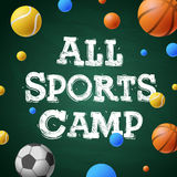 Sports summer training camp, themed poster Royalty Free Stock Photography