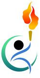 Sports symbol. Isolated illustrated colourful sports symbol Stock Photography