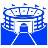 Sports symbol. Closeup of sports stadium symbol on white background Stock Image