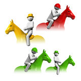 Sports symbols icons series 6 Stock Images