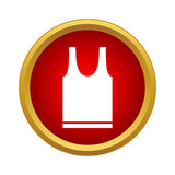 Sports t-shirt icon, simple style. Sports t-shirt icon in simple style in red circle. Clothing symbol Royalty Free Stock Photos