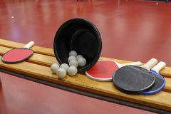 Sports Table Tennis Equipment Royalty Free Stock Photos