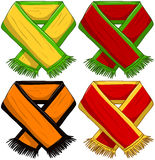 Sports Team Scarf Pack. A pack of vector illustrations of famous sports teams scarfs vector illustration