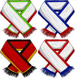 Sports Team Scarf Pack 2. A pack of vector illustrations of famous sports teams scarfs royalty free illustration
