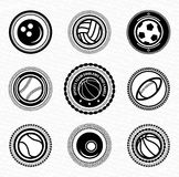 Sports team vitage retro badges and labels Royalty Free Stock Photography