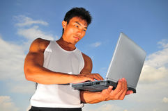 Sports and Technology 2. Pictures of atheletes. Useful for sports and business context, communicate ideas on performance, management, endurance, etc. Athelete Stock Photo