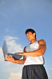 Sports and Technology 5. Pictures of atheletes. Useful for sports and business context, communicate ideas on performance, management, endurance, etc. Athelete Royalty Free Stock Image