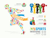 Sports Template Design Infographic . concept vector illustration Royalty Free Stock Photo