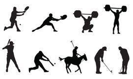 Sports tenis baseball golf Royalty Free Stock Image