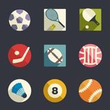 Sports theme icon set Royalty Free Stock Photography