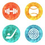 Sports theme icons Stock Photo