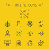 Sports thin line icon set Royalty Free Stock Image