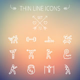 Sports thin line icon set Stock Photography