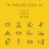 Sports thin line icon set Stock Images