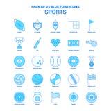 Sports Tone Icon Pack bleue - 25 ensembles d'icône illustration de vecteur