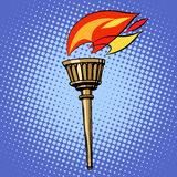 Sports torch, fire torchbearer Royalty Free Stock Photo