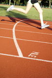 Sports track mile runner Royalty Free Stock Image