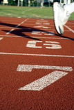 Sports track numbers Royalty Free Stock Photography