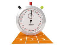 Sports Track and stopwatch Stock Images