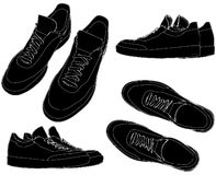 Sports Trainers Shoes Vector 01 Stock Photography