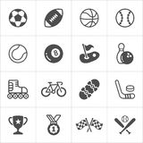 Sports trendy flat icons. Vector Royalty Free Stock Photos