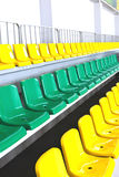 Sports tribune. Tribune for sports fans in the children's room Stock Image