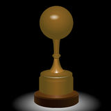 Sports trophy ball Royalty Free Stock Images