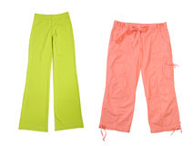Sports trousers. On a white background Stock Images