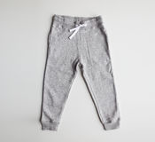 Sports trousers on white background Stock Image
