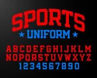 Sports uniform style font Stock Photos
