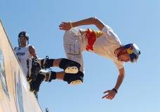 Sports urbains de rue en Majorque images libres de droits