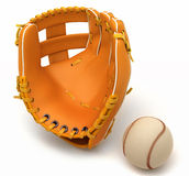 Sports in USA: baseball glove and ball Stock Photo