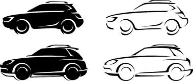 Sports Utility Vehicle Abstract Stock Images