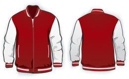 Sports or varsity jacket template. Royalty Free Stock Photo
