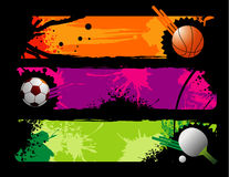 Sports vector composition. Over a colors background royalty free illustration