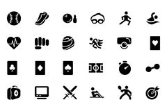 Sports Vector Icons 2 Royalty Free Stock Photo